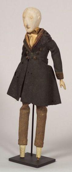 "Carved Gentleman Wooden Doll | Sale Number 2322, Lot Number 117 | Skinner Auctioneers - ht. 14 3/8"""