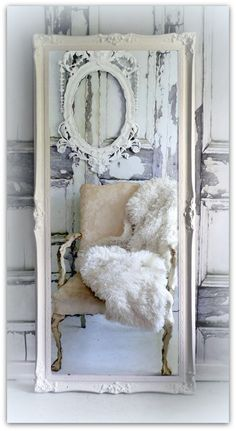 Huge Leaner Vintage Chic Full Length Mirror Hollywood Regency Decor on Etsy, $689.00