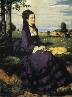 Pál Szinyei Merse - Lady in Violet [1874]