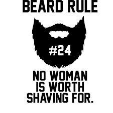 Image result for beard rule #7