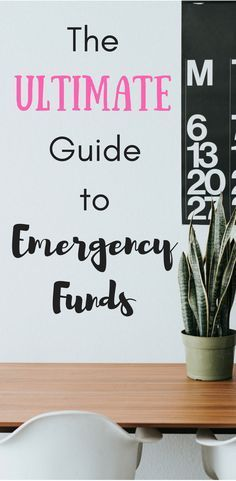 The Ultimate Guide to Emergency Funds | Save Money | Personal Finance | Make Money | Budget | Frugal Living | Side Hustle | Debt Payoff |