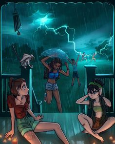 """☔ Loraine on Instagram: """"summer thunderstorm shenanigans with Team Avatar ⛈ basically just an excuse for me to draw a storm cuz I CAN'T 👏 WAIT 👏 for summertime…"""""""