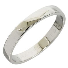 Chanel Platinum 950 Simple Wedding Ring US Size 7.5