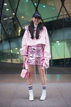 Millennial Pink Street Style Outfit Ideas | 50 Outfit Ideas That'll Make You Think Pink | POPSUGAR Fashion UK Photo 29
