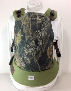 Real Tree Camouflage Full Buckle Carrier, Camo SSC, Real Tree Baby Gear, Redneck Baby Sling, Mens baby carrier, Dad babywearing