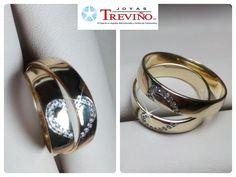 c80b743cec26 Argollas Matrimoniales 5mm en oro amarillo 10K o 14K con zirconias Diseño  especial Joyas Treviño
