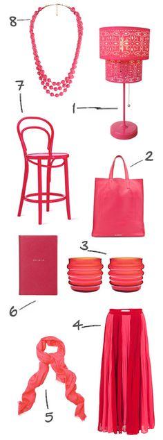 fiery pink!