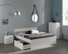 Schlafzimmer Linus XII mit 160er Bett Die Auswahl der Farbe ist bei diesem Schlafzimmer - Programm reine Geschmackssache. Beide Farben, Kaffee oder Weiß, können sich problemlos jeder kreativen...
