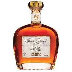 Twenty Grand Vodka Infused With Cognac Gold Alcohol Bottles, Liquor Bottles, Perfume Bottles, Drinks Alcohol, Honey Liquor, Wine Drinks, Alcoholic Drinks, Bar Drinks, French Cognac