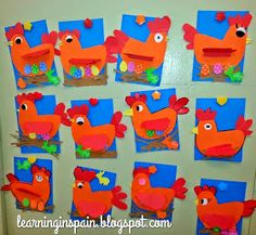 Learning in Spain: Easter hen craftivity or the last day before spring break