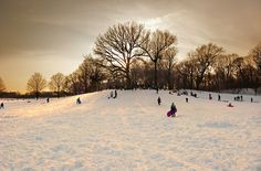 The Sledding Hill (Dusk), by Joseph O. Holmes - 20x200 (from $60)