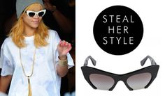 845d9b0c533d Rihanna with some bottomless Cateye Sunglasses · Cat Eye SunglassesRihannaMiu  MiuCelebrity Style