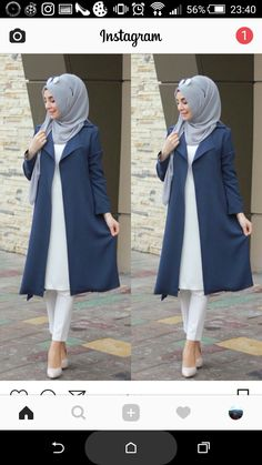 - Çok begendim I really like Modern Hijab Fashion, Islamic Fashion, Muslim Women Fashion, Modest Fashion, Abaya Fashion, Fashion Outfits, Hijab Style Dress, Casual Hijab Outfit, Hijab Chic