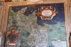 Map in Hall of Maps at Vatican Museum