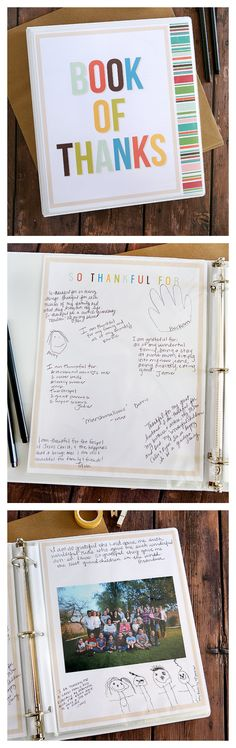 Best Ideas DIY and Crafts Inspiration : Illustration Description Book of Thanks Thanksgiving Traditions, Thanksgiving Treats, Thanksgiving Activities, Holiday Traditions, Thanksgiving Decorations, Thanksgiving 2017, Family Traditions, Holiday Crafts, Holiday Fun