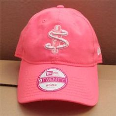 a2afcbbd186 Women s Adjustable pink hat with white S logo -  18.00
