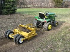 garden-tractor-attachments by John Atwater Small Tractors, Compact Tractors, Old Tractors, Lawn Tractors, Tractor Mower, Tractor Parts, Lawn Mower, Small Garden Tractor, John Deere Garden Tractors