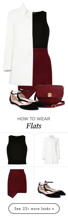 """Hello..."" by trendy-and-chic on Polyvore featuring moda, River Island, RED Valentino, The Code, Gianvito Rossi, women's clothing, women's fashion, women, female e woman"