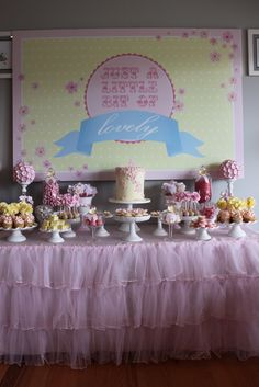 Pretty Dessert Table #dessert #table