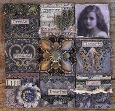 Vintage Tile Canvas project