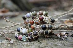 Cáñamo pulsera moldeada joyería Hippie verano inspirado