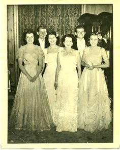 The Kennedys at gala in London: Eunice, Jack, Rosemary, mother Rose, Joe jr. and Kathleen