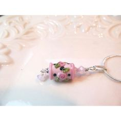 Necklace pink, black green glass lampwork bead pendant with opal pink... (€23) ❤ liked on Polyvore featuring jewelry, necklaces, chain necklaces, glass pendants, opal pendant necklace, pink necklace and glass pendant necklace