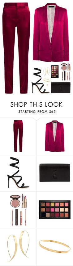 """Sin título #4622"" by mdmsb on Polyvore featuring moda, Haider Ackermann, Gianvito Rossi, Yves Saint Laurent, Charlotte Tilbury, Huda Beauty y Lana"