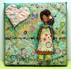 Mixed media she art girl. Hard to decide, art & inspiration? Crafts? Lovely