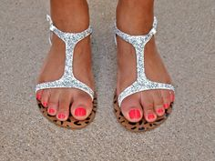 Craft Wars for BuzzFeed Glitter Sandals