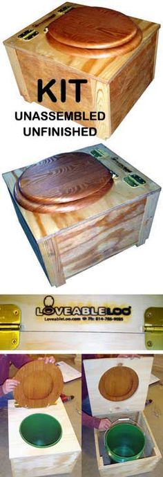 LOVEABLE LOO - Eco Toilet  - can also use a compostable liner to make emptying easier, I'm thinking this is perfect for the tiny house - low cost, low tech, easy DIY---maybe figure out a peat composter this way