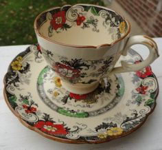 Royal Cauldon Bentick pattern Demitasse cup and by mllazarus, $24.00