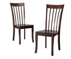 Dolce Dining Chairs -- 2 are the just the right amount to go with my Dolce Drop-Leaf Dining Table from Target, filling perfectly amount of space I have for dining.  I have spare chairs and can raise the table leaves to accommodate four people.
