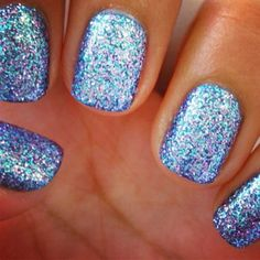 Blue & purple sparkle