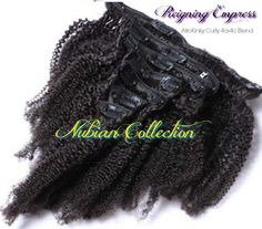 Cambodian AfroKinky Curly Clip Ins