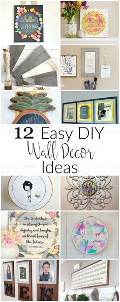 12 Easy DIY Wall Decor Ideas to brighten up your home!
