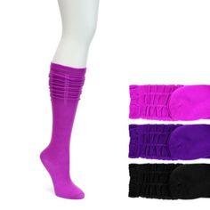 LaDeDa 3 Pack Scrunch Knee High Girls' Socks (ASSORTED)