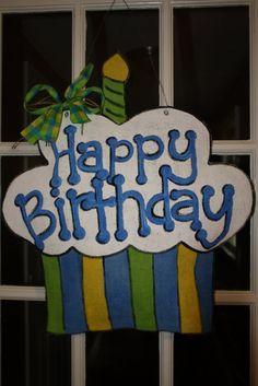 birthday burlap
