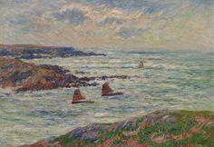 Henry Moret - L'entreé du port de Doelän, Finistre, 1909, oil on canvas