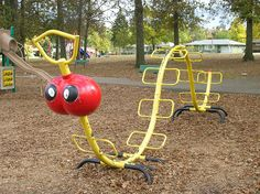 Old style playground equipment