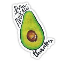 it's an avocado Sticker