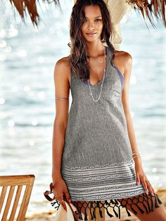 Low-Armhole cover-up - victoria's secret Lais Ribeiro, Spring Summer, Summer 2015, Spring Break, Fashion Over, Beach Fashion, 50 Fashion, Swimwear Fashion, Fashion Styles