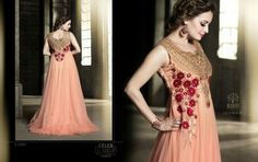 Get a gorgeous look in our latest fashion's embroidered anarkali suit, for more detail just click on this link http://www.zipker.com/catalog/product/view/_ignore_category/1/id/153297/s/sophisticated-orange-coloured-embroidery-anarkali-suit.