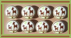8 Willow Deer Dresser  Drawer  Knobs by PATRINASPLACE on Etsy, $23.00