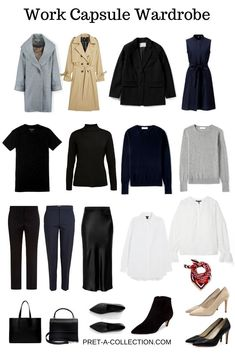 Not a long time ago I had a request for a work capsule wardrobe. Since I started to work in a corporate office I am the one who has to wear professionally as we Capsule Wardrobe Casual, Capsule Outfits, Fashion Capsule, Mode Outfits, Wardrobe Basics, Summer Work Outfits Office, Casual Work Outfit Summer, Fall Outfits For Work, Summer Office