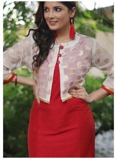 Silk Kurti Designs, Simple Kurta Designs, Salwar Neck Designs, Kurta Neck Design, Dress Neck Designs, Fancy Blouse Designs, Kurta Designs Women, Kurti Designs Party Wear, Latest Kurti Designs