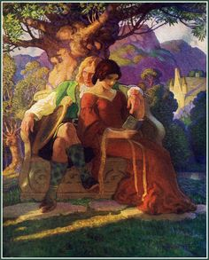 """The Scottish Chiefs"" 1921 'Wallance and Marion' by N.C. Wyeth. 8. Newer Older. N.C. (Newell Convers) Wyeth [American Golden Age Illustrator..."