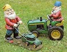 Gnomes doing yard work...