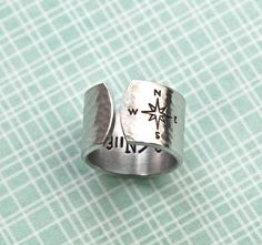 Hey, I found this really awesome Etsy listing at https://www.etsy.com/listing/168321394/personalized-ring-hand-stamped-ring