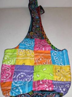 Bandanna Hobo Bag  http://www.craftster.org/forum/index.php?topic=387470.0